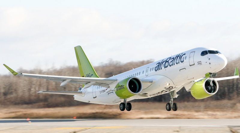 Premier vol du premier A220-300 d'Air Baltic
