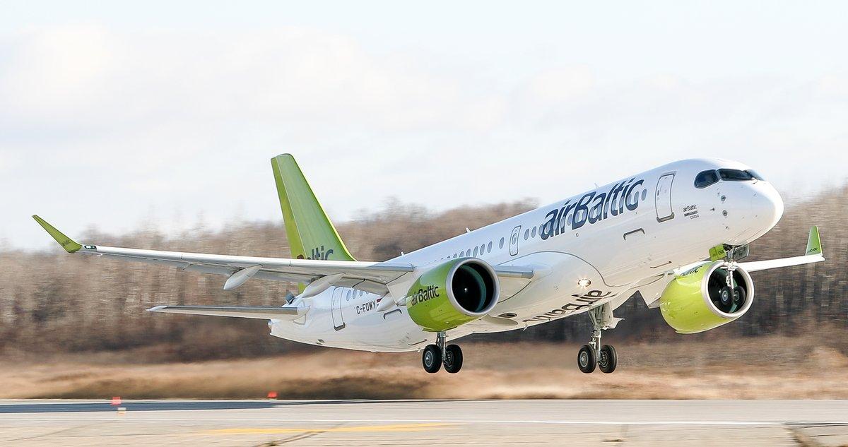 Premier vol du premier A220-300 d'Air Baltic