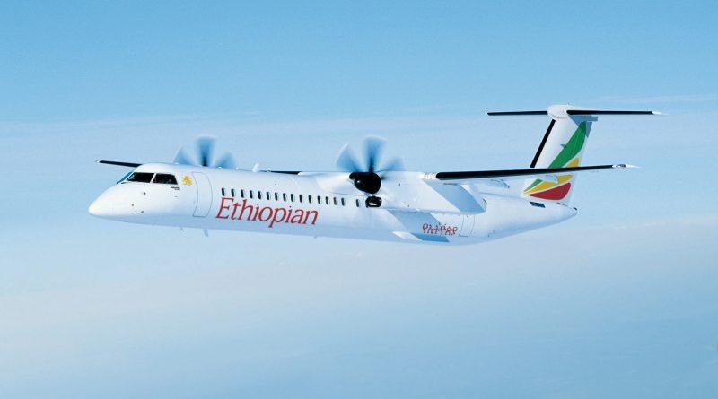 Q400 de Bombardier aux couleurs d'Ethiopian airlines
