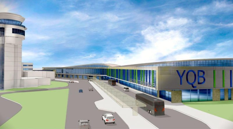 Croquis du projet de nouvel aérogare de Québec