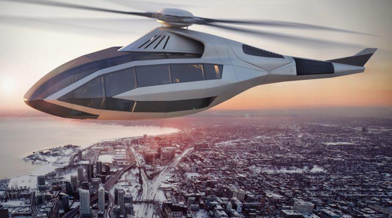 Bell FCX-001 en vol au dessus de Toronto