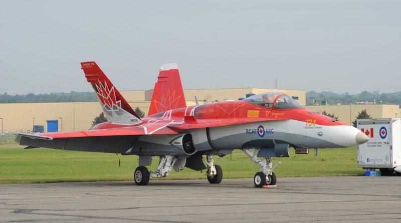 Le F18 de démonstration de l'ARC