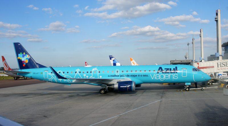 Azul Linhas Aereas Embraer 195 at Curitiba Airport, Brazil
