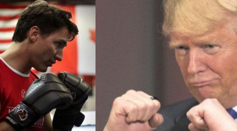Justin Trudeau face à Donald Trump