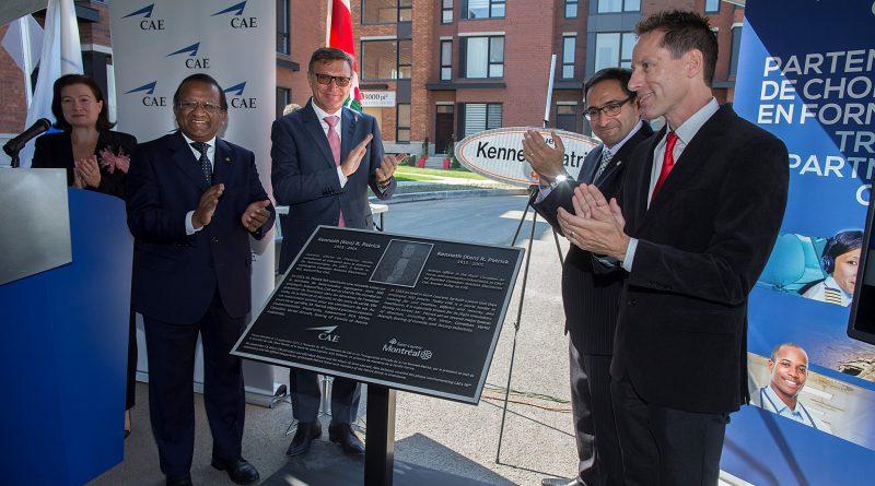 inauguration de la rue Kenneth Patrick