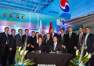 Livraison du premier CS300 à Korean Air