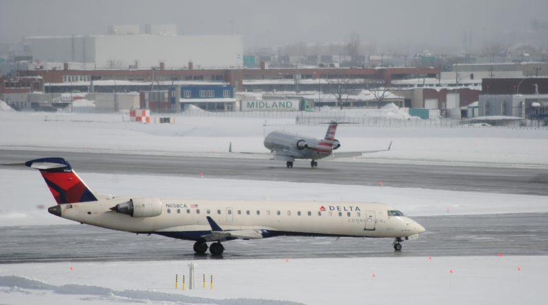 Montréal-Trudeau en hiver
