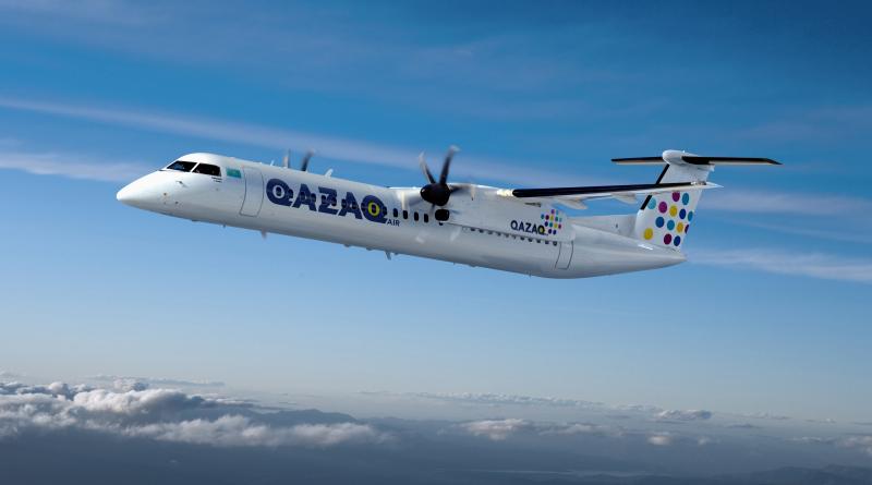 Q400 aux couleurs de QAZAQ Air