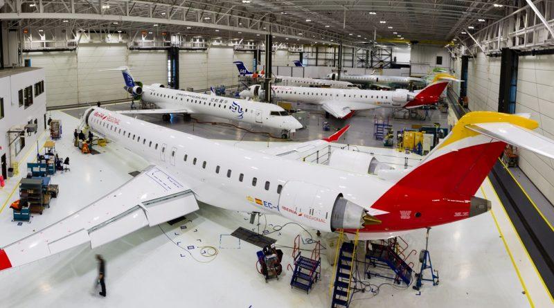 CRJ, Bombardier annule l'accélération de la cadence de production
