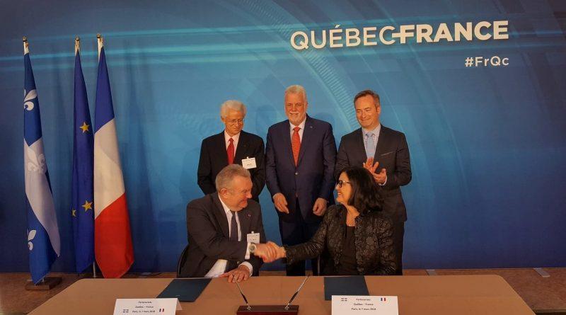 Signature d'une entente entre Aéro Montréal et le GIFAS