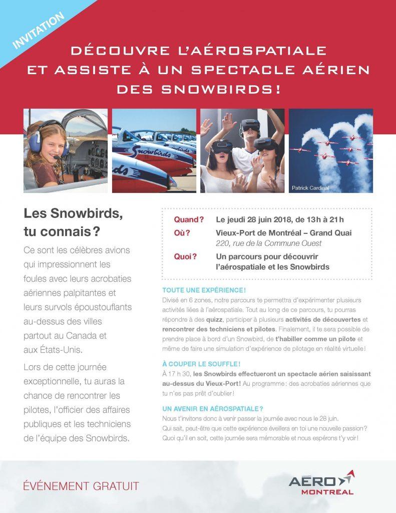 Annonce SnowBirds AeroMontreal