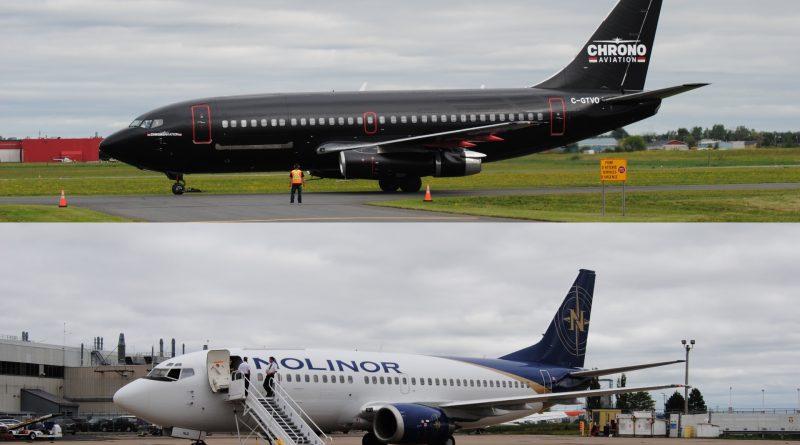 B737-200 Chrono Aviation et B737-300 de Nolinor Aviation