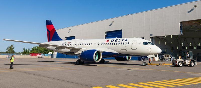 Le premier A220-100 au couleurs de Delta Airlines