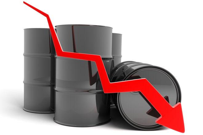 Baril de pétrole à la baisse