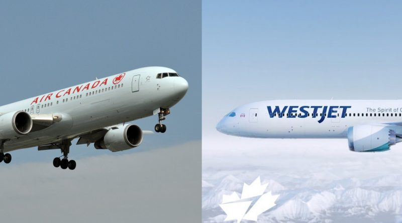 Confrontation Air Canada WestJet