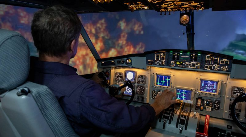 TRU CL-415 simulation d'un incendie