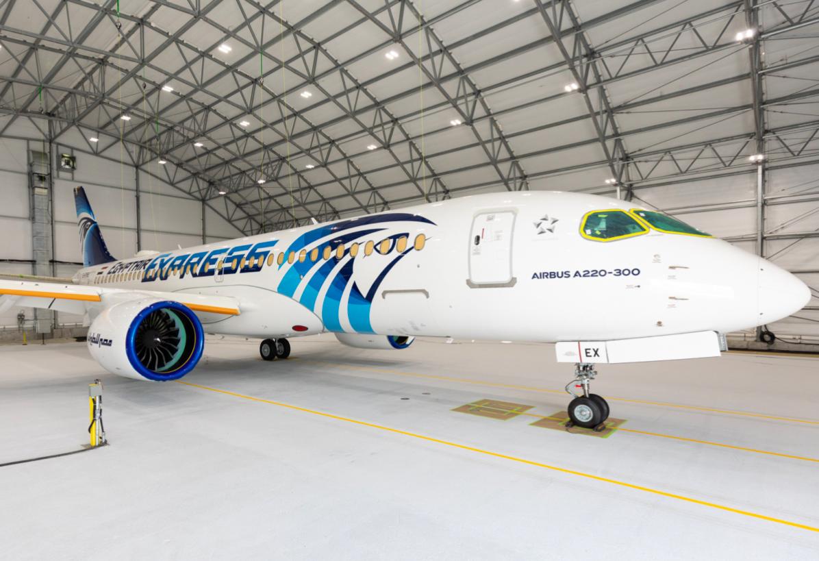 Airbus est à compéter le premier A220-300 d'Egypt Air