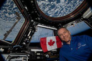 Photographie de David St-Jacques lors de son séjour dans l'espace