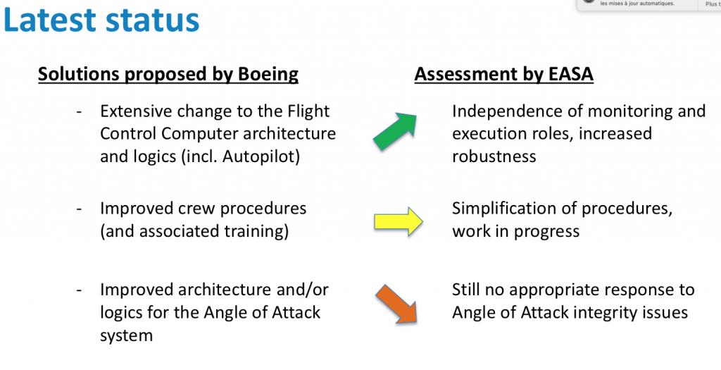 L'EASA fait sa propre évaluation du MAX