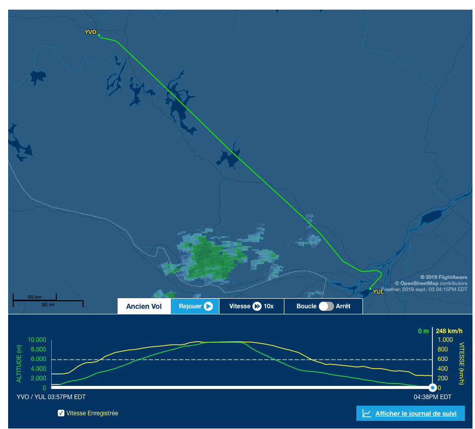 Vol ACA2356 Air Canada fait des essais?