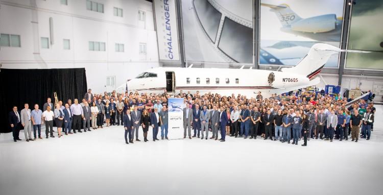 Bombardier livre le 100e Challenger de NetJets