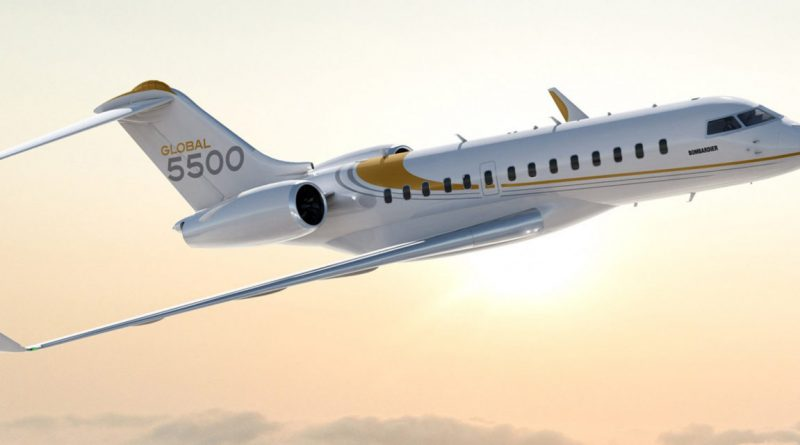 Bombardier augmente la distance franchissable du Global 5500