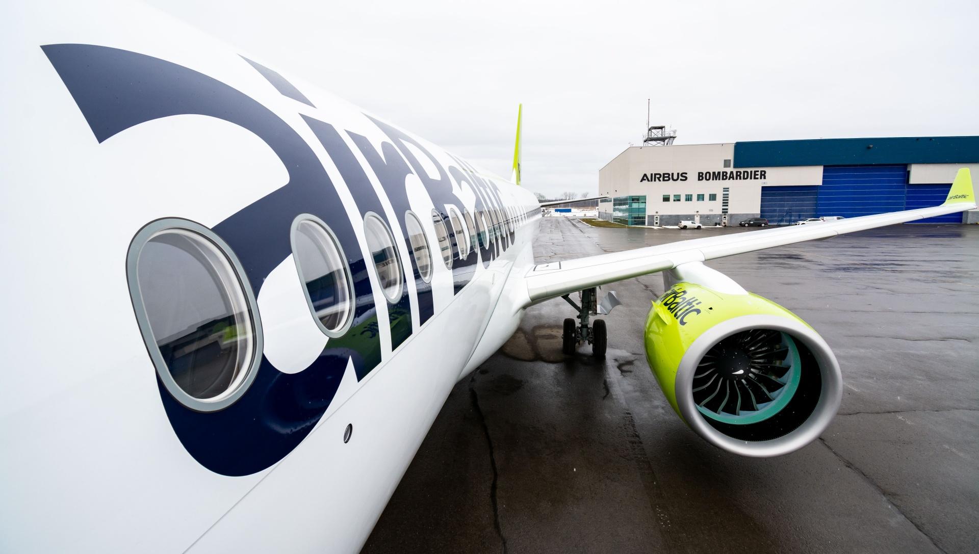 Le 21e A220-300 d'Air Baltic se prépare pour son premier vol