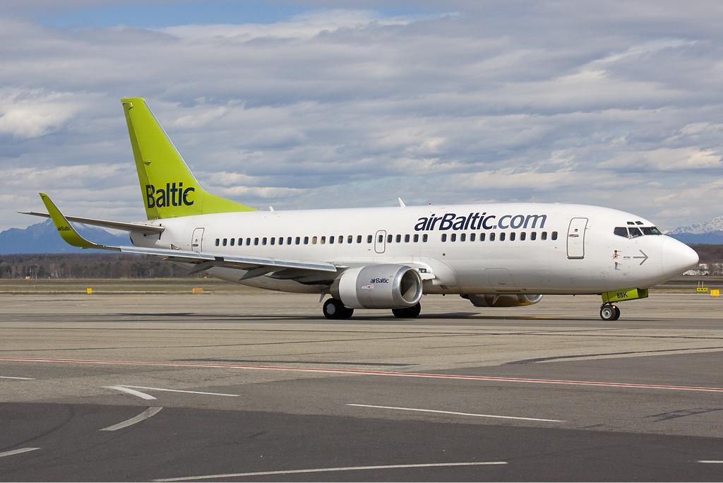 Boeing 737-300 d'Air Baltic à Riga