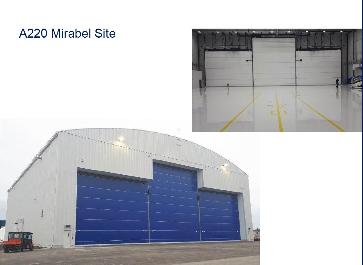 Le nouveau hangar C à Mirabel