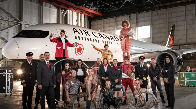 Air Canada transporteur officiel du Cirque du Soleil