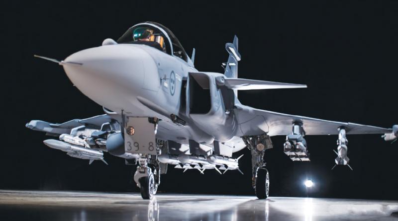 Héroux-Devtek train d'atterrissage Saab Gripen E