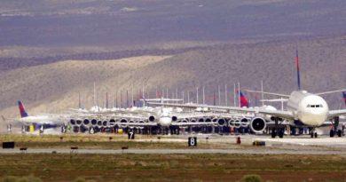 Delta Airlines avions remisés