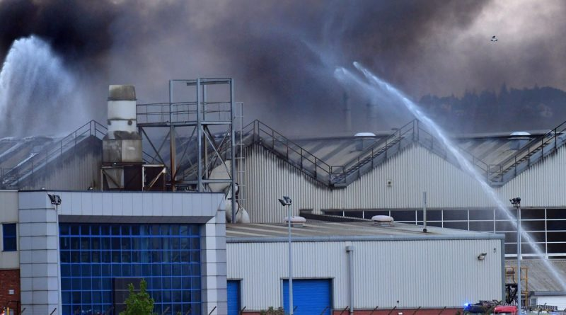 Incendie Bombardier Belfast