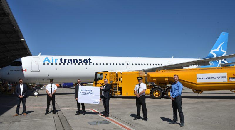 Air Transat livraison avec biocarburant