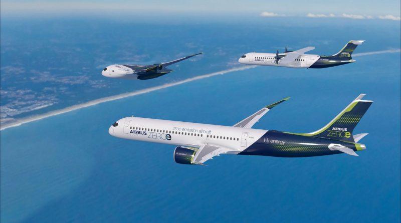 Airbus ZEROe 3 concepts