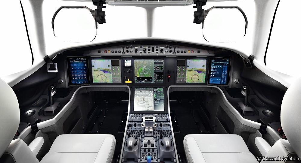 Falcon 6X poste de pilotage