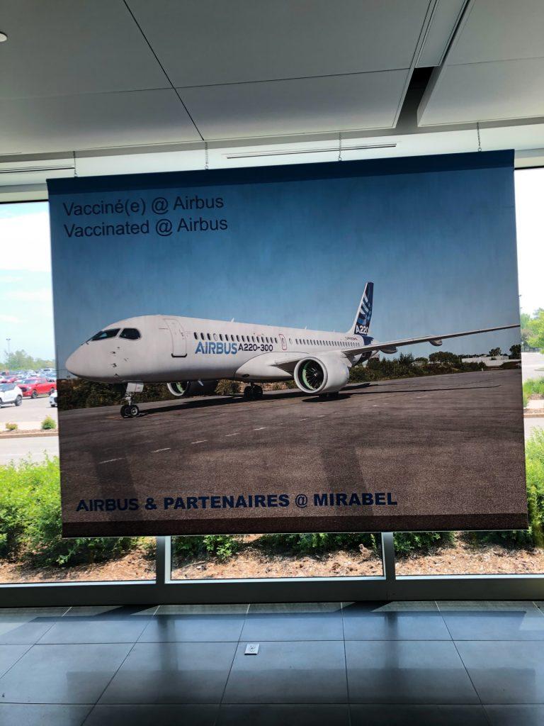 Airbus, pôle de vaccination