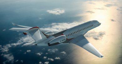 Falcon 10X en vol