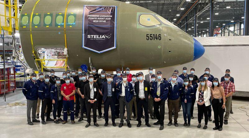 Stelia, premier fuselage avant assemblé à Mirabel