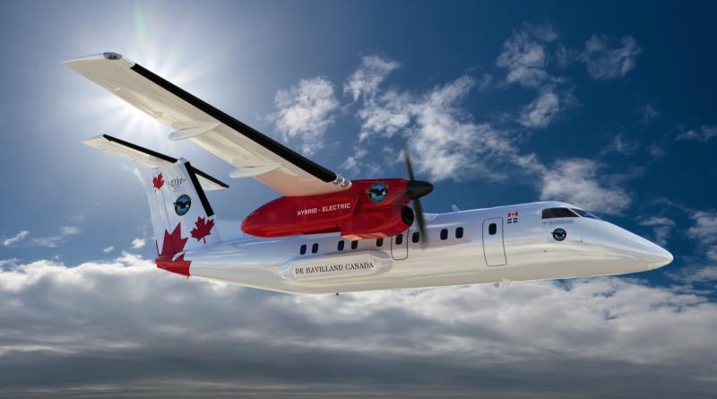 De Havilland et le Dash 100 à propulsion hybride