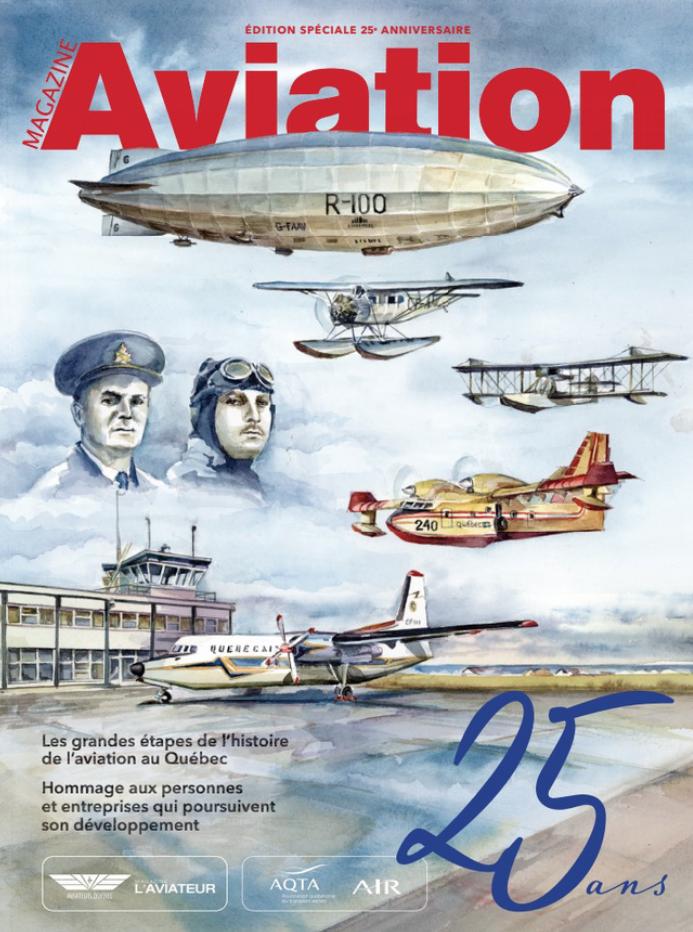Page couverture des 25 ans Magazine Aviation