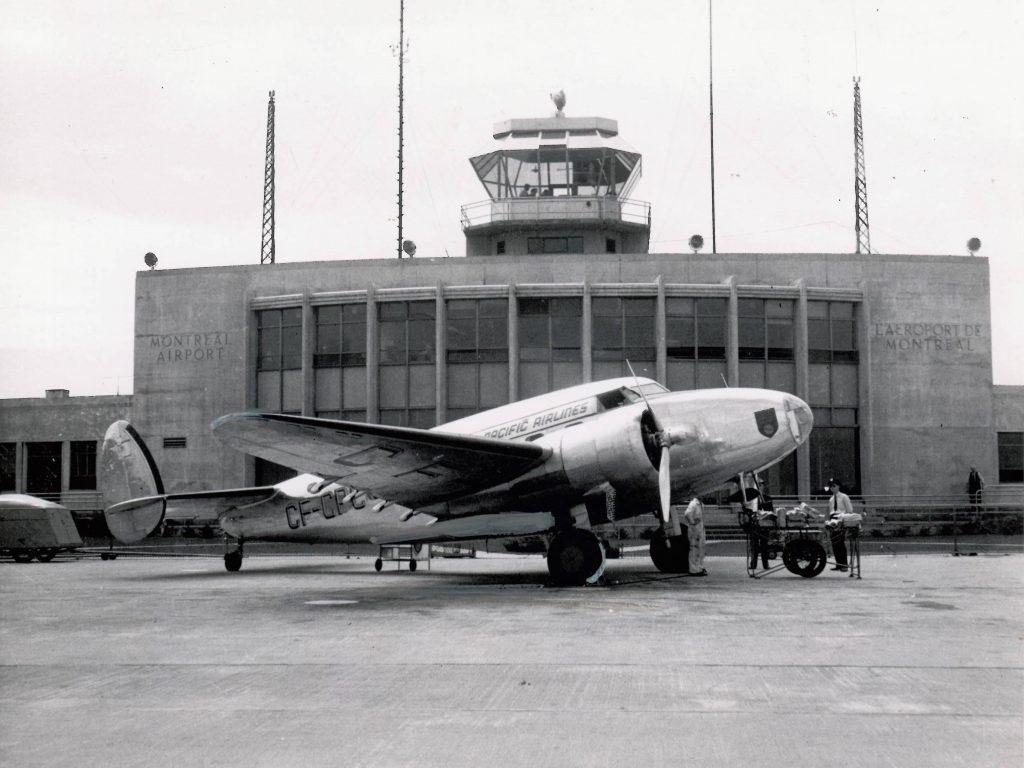 Aéroport de Dorval dans les années 40. Source ADM