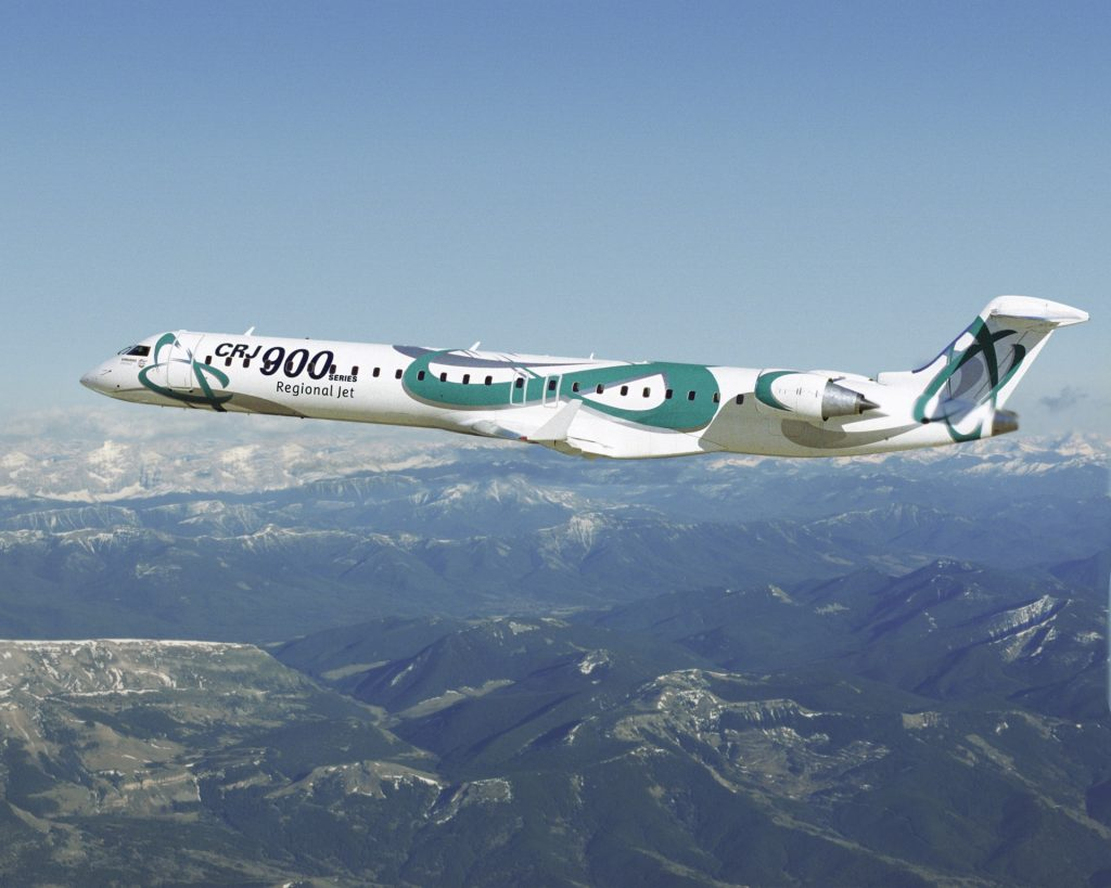 CRJ900 en vol
