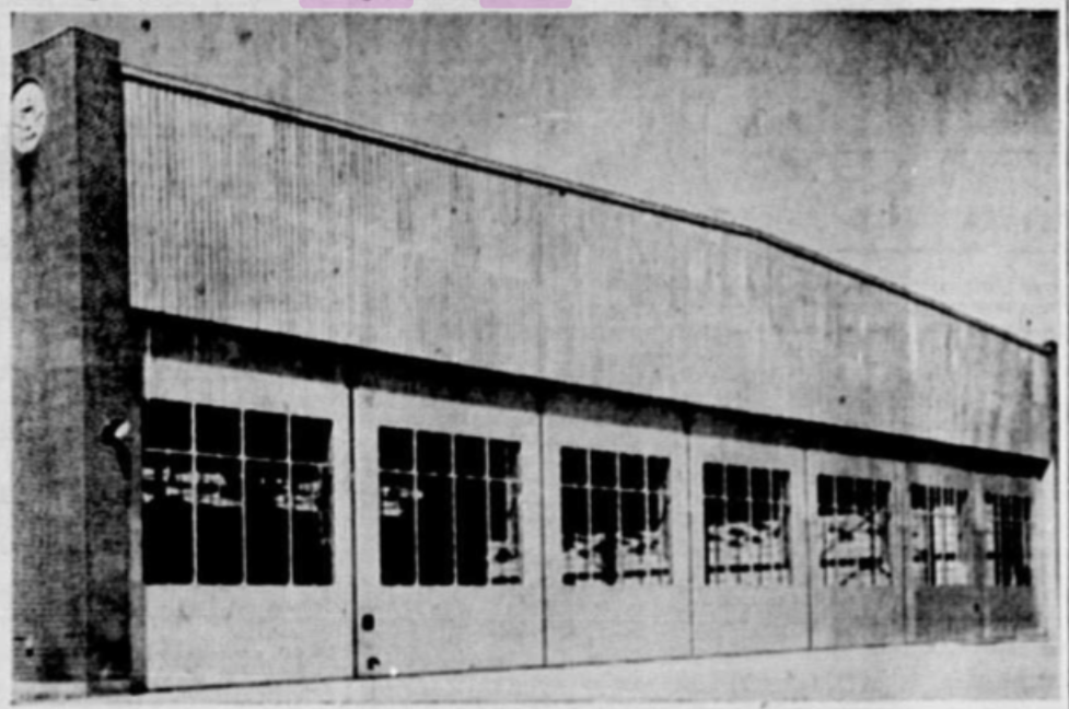 Le Hangar d'Air Canada publié dans Le Canada le 29 août. Source, les archives numériques de la Bibliothèque nationale du Québec