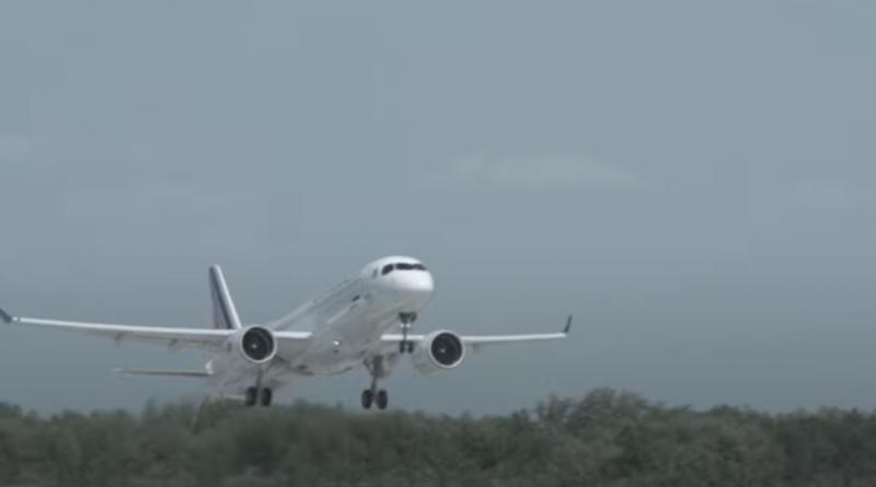 Premier vol A220-300 d'Air france