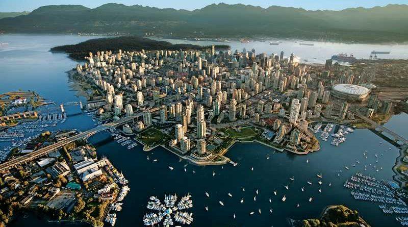 Vancouver vue du haut des airs