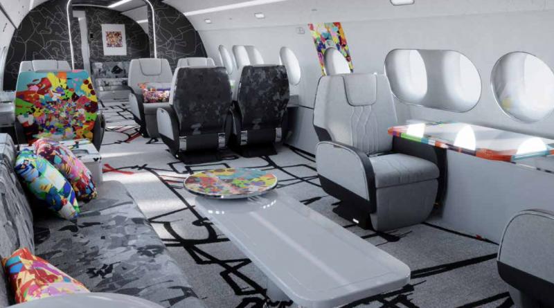 La partie Lounge de la cabine édition spéciale Cyri Kongo
