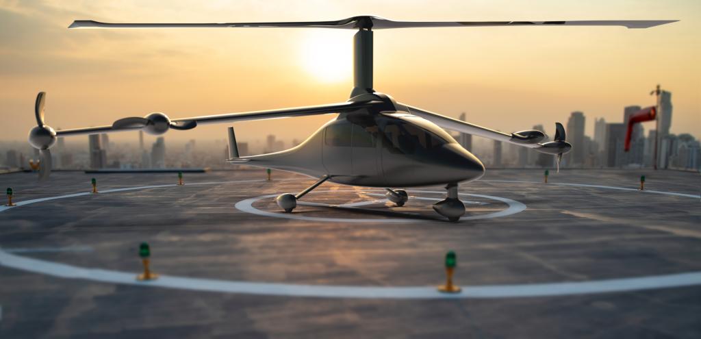 Jaunt Air Mobility sur Héli Pad