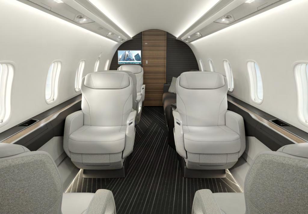 La nouvelle cabine du Challenger 3500