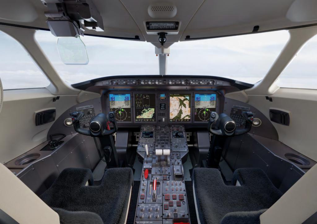 Poste de pilotage du Challenger 3500